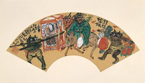落語家 林家染左さんと観る「鉄斎の祝慶画」